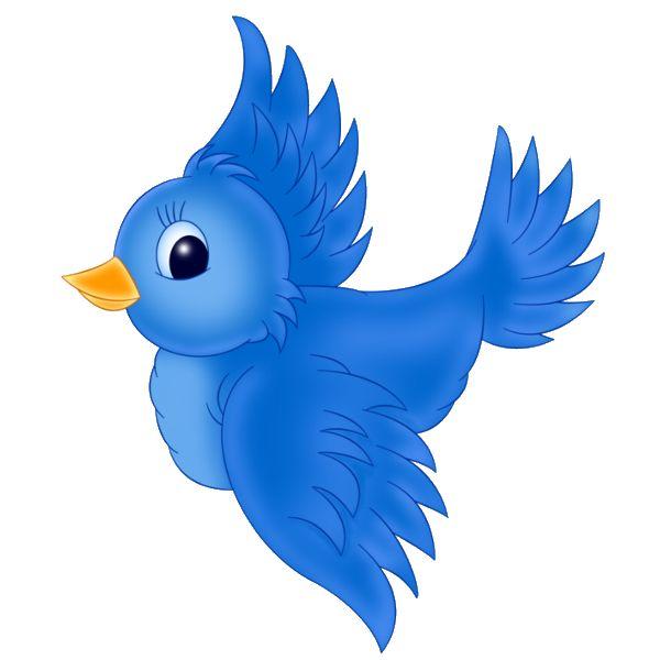 Blue Birds - Birds Clip Art