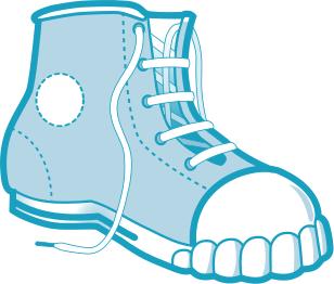 Blue Boot Sneaker