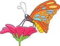blue butterfly full wings clipart. Size: 113 Kb