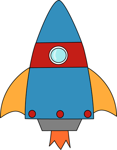 Blue Cartoon Rocket Clipart u0026middot; «