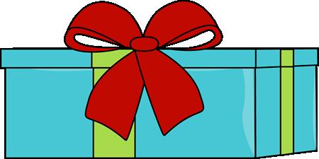 Blue Christmas Gift Clip Art - Blue Christmas Gift Image