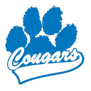 Blue Cougar Paw Clipart #1