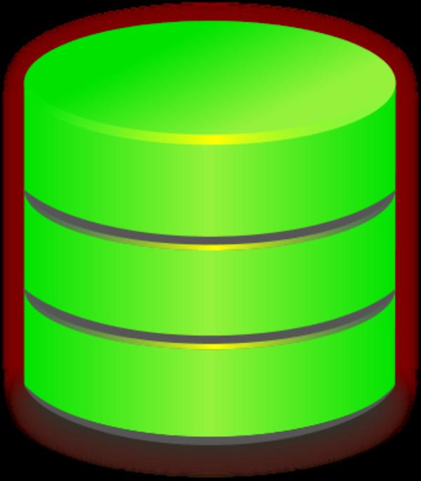 Blue database vector clip art
