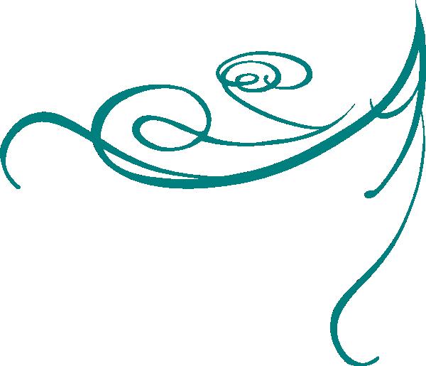 Blue decorative swirl clip art design download vector clip art