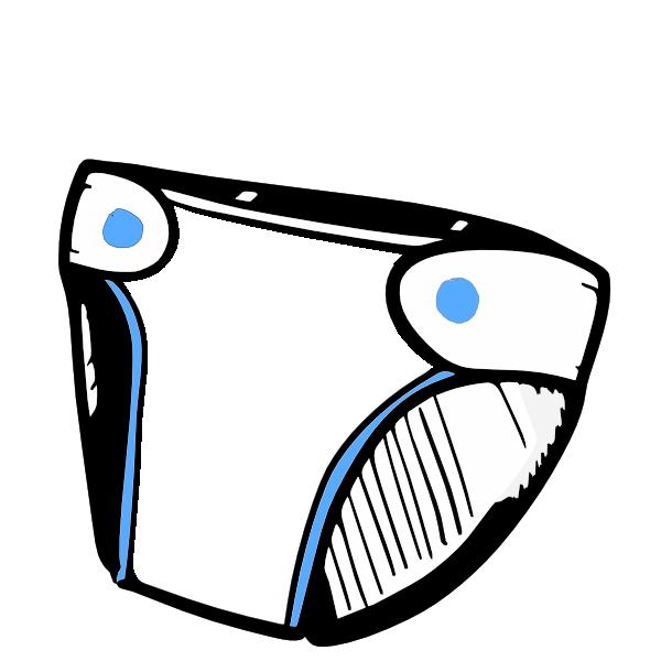 Blue Diaper Clip Art At Clker Com Vector Clip Art Online Royalty