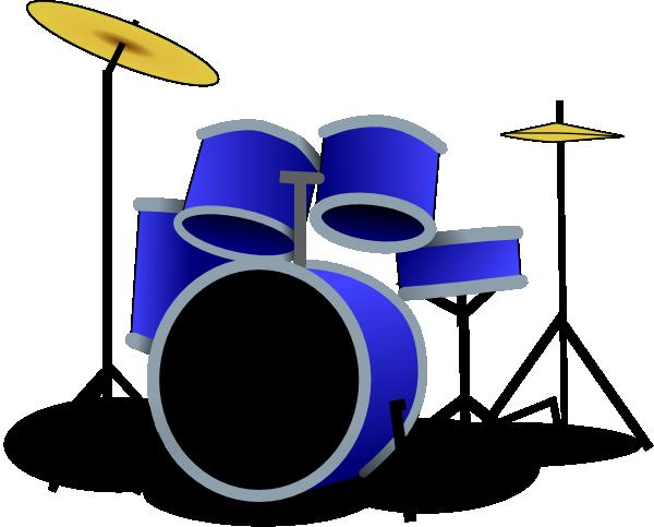 Blue Drum Set Drum Clipart