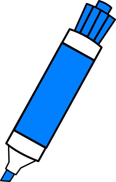 Blue Dry Erase Marker Clip Art