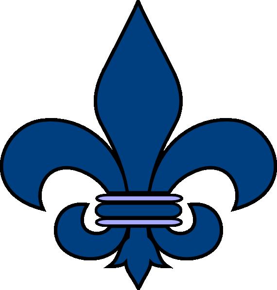 Blue Fleur De Lis Clip Art At Clker Com Vector Clip Art Online