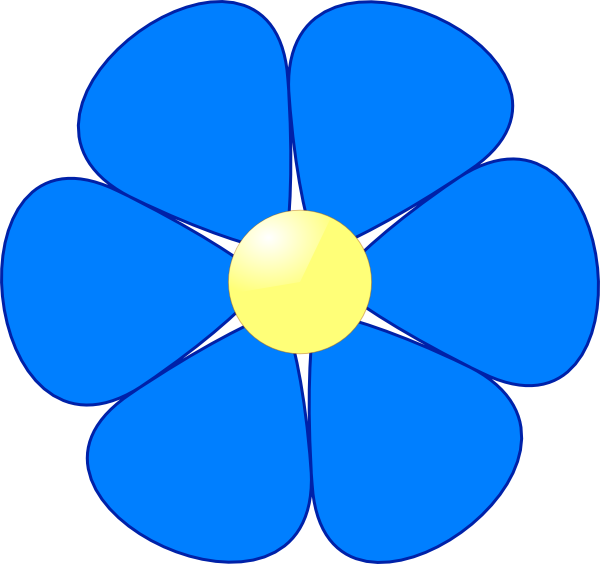 Blue Flower Clip Art At Clker Com Vector Clip Art Online Royalty