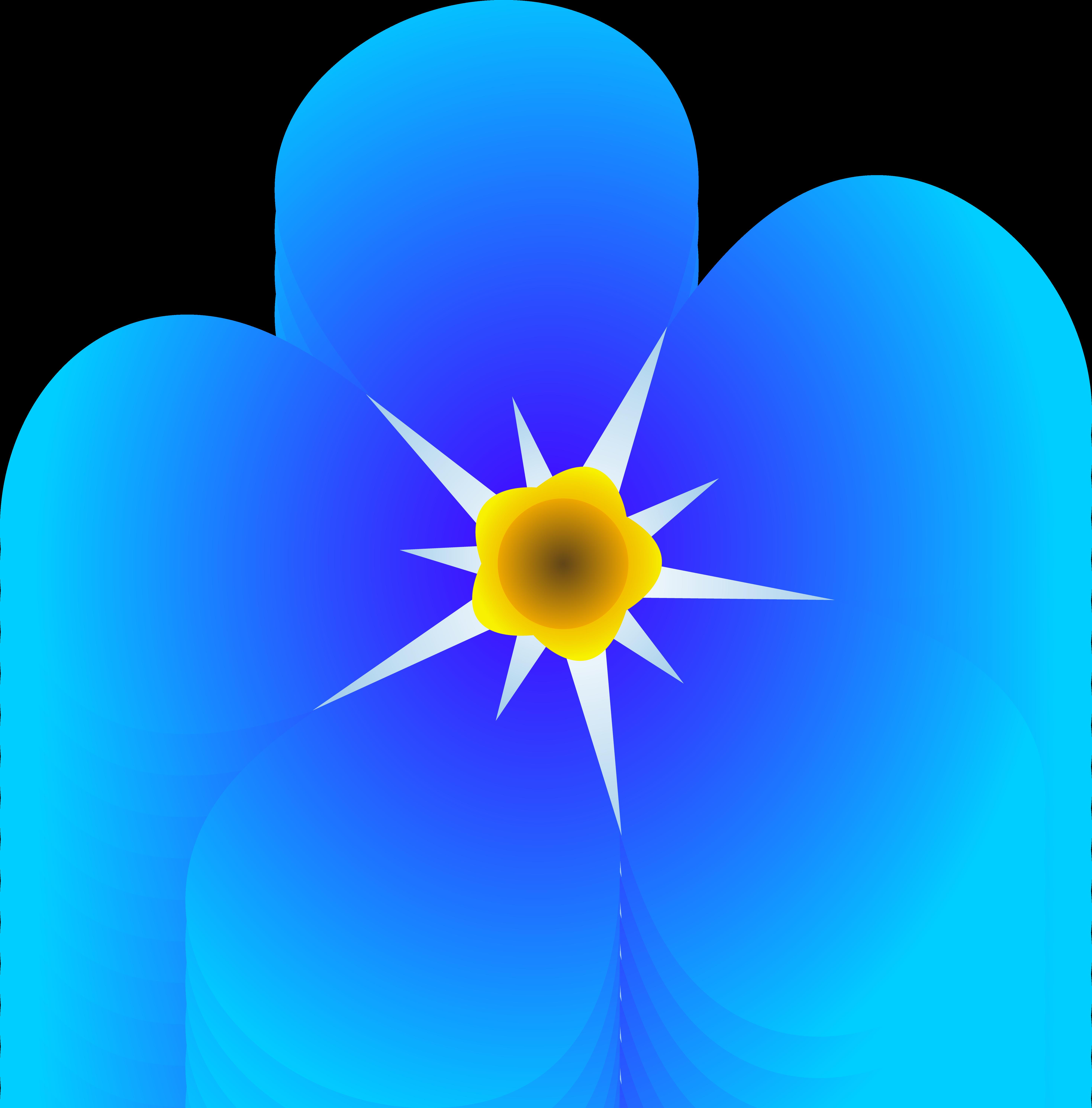 Blue Flower Clip Art