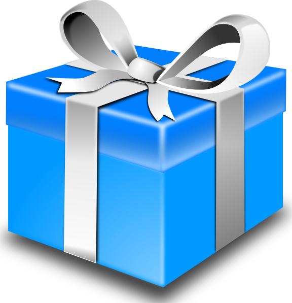 Blue Gift Clip Art At Clker Com Vector Clip Art Online Royalty Free