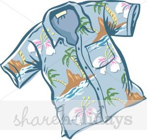 Blue Hawaiian Shirt Clipart