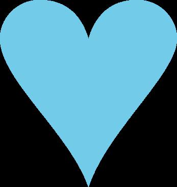 Blue Heart - Heart Clipart