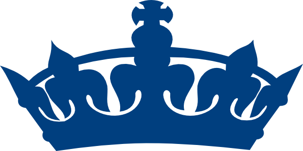 Blue King Crown Clipart #1