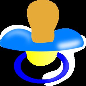 Blue Pacifier Clip Art