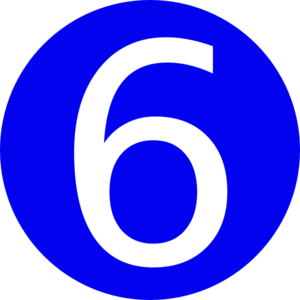 Blue Roundedwith Number 6 Clip Art At Clker Com Vector Clip Art