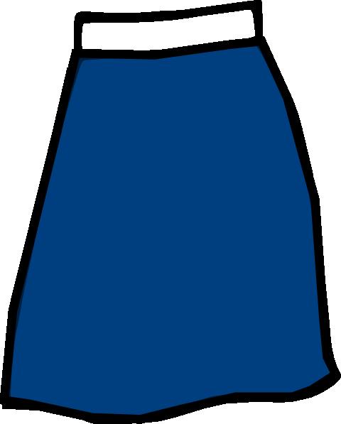 Blue Skirt Clip Art