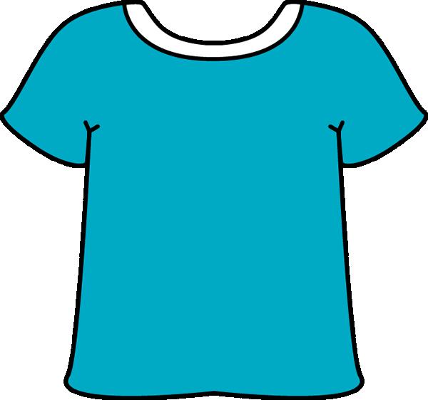 Blue Tshirt White Collar