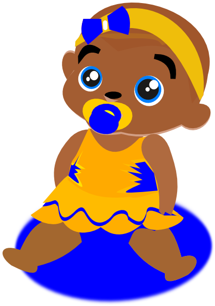 Blue Yellow Baby Clip Art At ..
