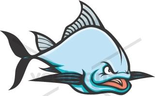 Bluefin Tuna Clipart. Wild Atlantic Bluefin Tuna