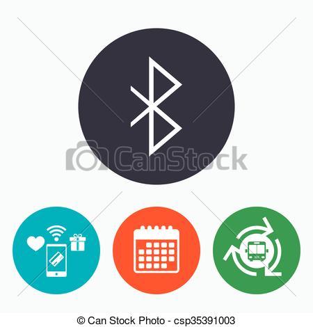Bluetooth sign icon. Mobile network symbol. - csp35391003