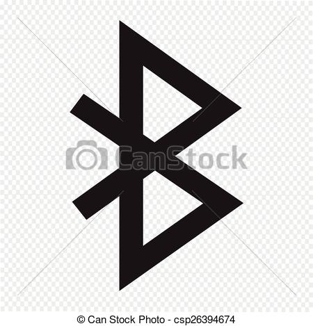 Bluetooth Sign Icon Vector