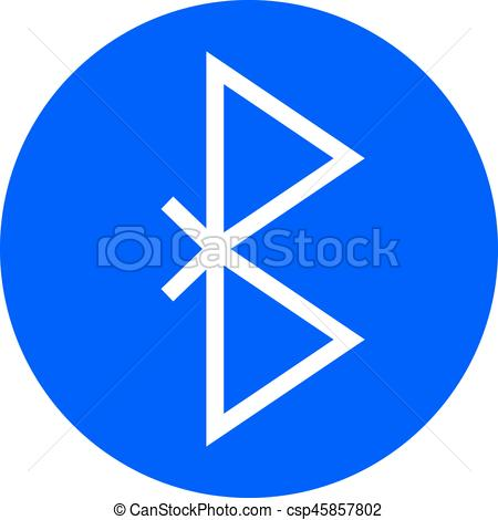 Bluetooth Symbol Vector Icon. Wireless Connection Sign