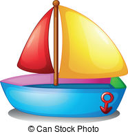 . hdclipartall.com A colorful boat - Illustration of a colorful boat on a white.