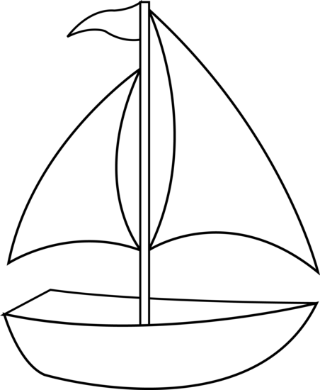 Sailboat black and white tefl