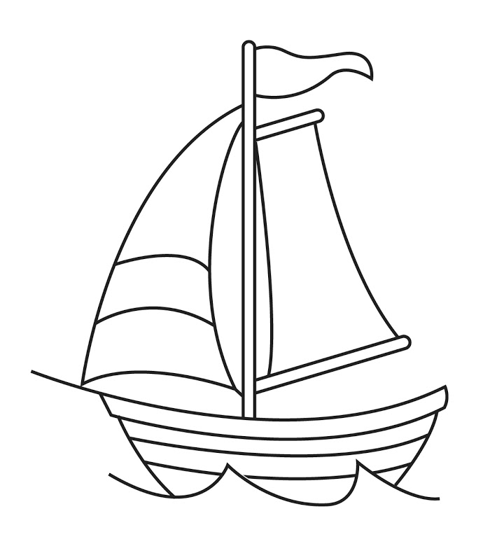Boat black and white sail cli - Boat Clipart Black And White
