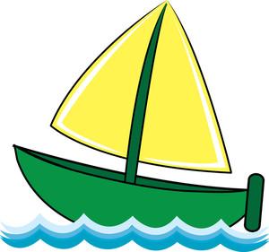 Boat Clipart Image Clip Art Cartoon Image Of A Cartoon Boat Sailing