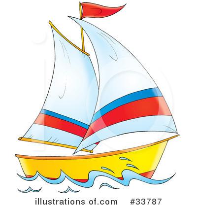 Royalty-Free (RF) Boat Clipart Illustration #33787 by Alex Bannykh
