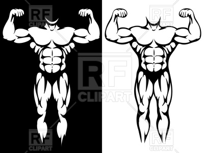 Athletic body and muscules - gym emblem, bodybuilder, 174647, download  royalty-free ClipartLook.com