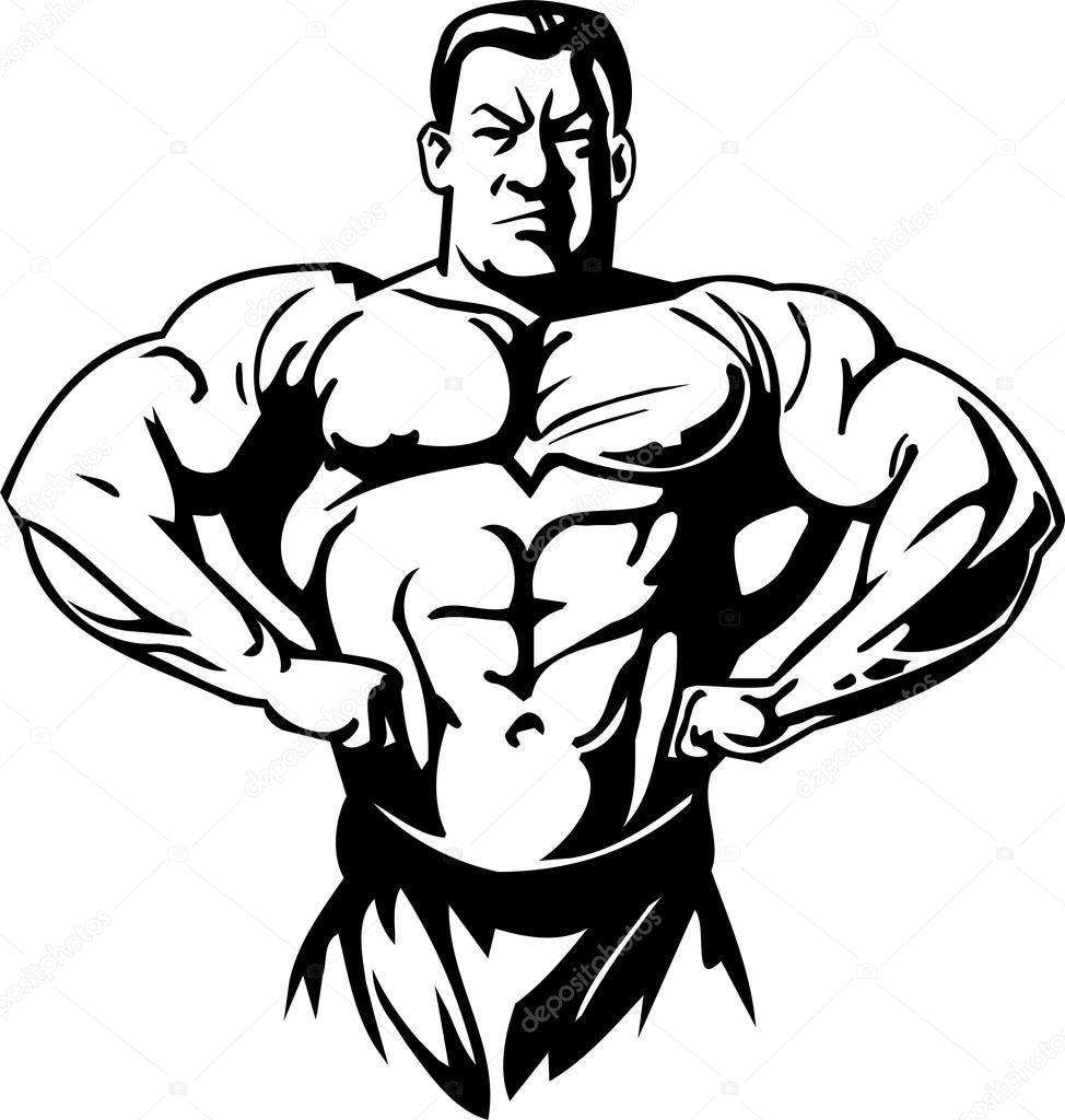 Bodybuilding and Powerlifting - vector illustration. u2014 Vector by Digital- Clipart