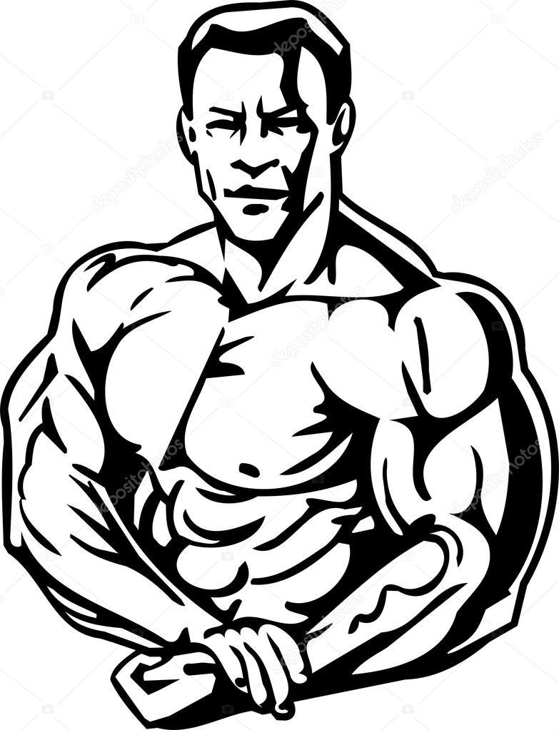 Vücut geliştirme ve powerlifting - vektör çizim u2014 Digital-Clipart - Vektör