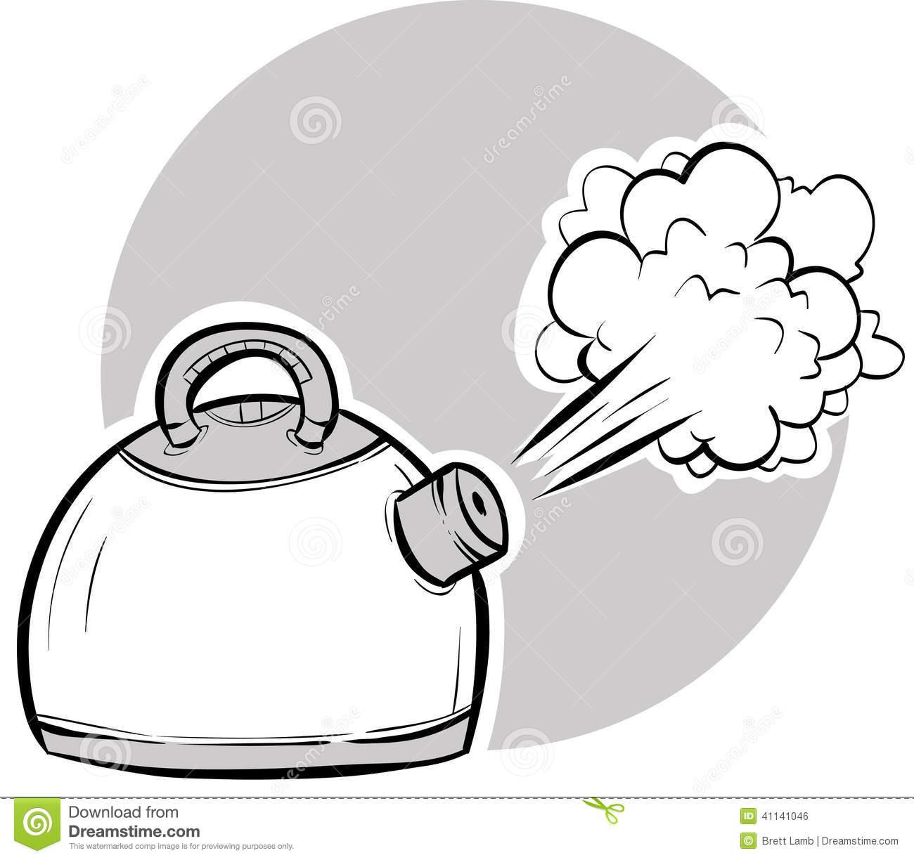 Boiling Kettle Stock Illustration Image 41141046