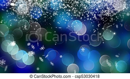 Blue Bokeh Background Created By Neon Lights. 4k Stock Illustration