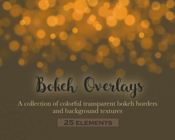 Colored bokeh overlays, bokeh effects, bokeh clipart, bokeh borders, bokeh  background, bokeh confetti, rainbow, vintage, INSTANT Bokeh Clipart