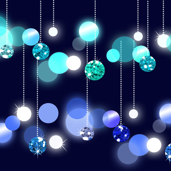 Dangling Lights Clip Art, Glitter Bokeh String Lights, Six Dangling Glitter  Bokehs Clip Art, String Lights Clip Art, Sparkling Lights String