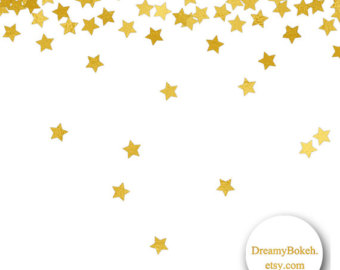 Gold star bokeh clipart hdclipartall