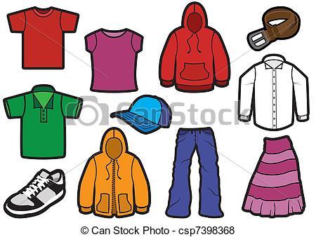 ... Bold clothing symbol set. - Vector illustration of eleven.