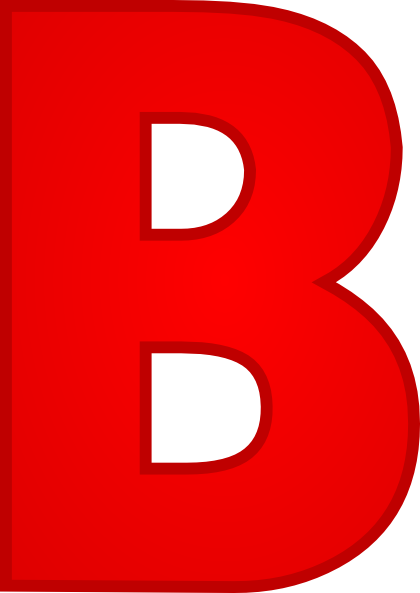 Bold Red Letter B Clipart