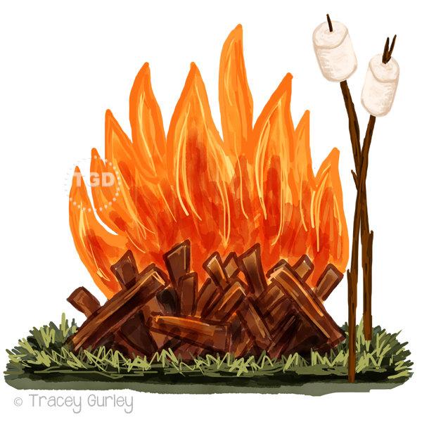 Bonfire Word Clipart.