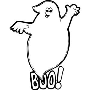 boo ghost public domain clip .
