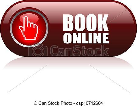 Book Online Vector Button