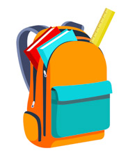 Books And Scale Inside Open Bagpack Back To School Clipart Size: 80 Kb