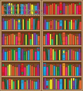 Bookshelf Clipart Image
