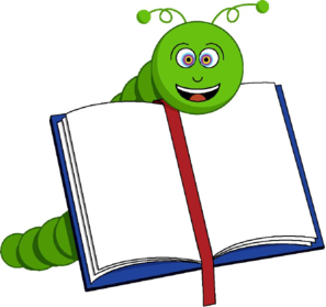 bookworm clipart black and white
