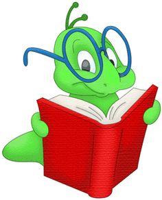 Bookworm Clipart .
