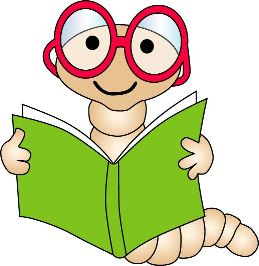 Bookworm With Bow Clipart